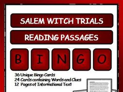 Reading Passages and Bingo - Salem Witch Trials