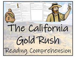 UKS2 History - The California Gold Rush - Reading Comprehension Activity