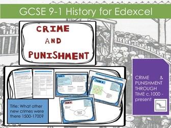 Edexcel GCSE 9-1 Crime & Punishment:  Lesson 9 What other new crimes were there c1500-c1700?
