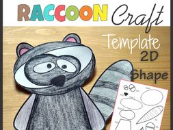 Raccoon Craft - Template Cut and Paste