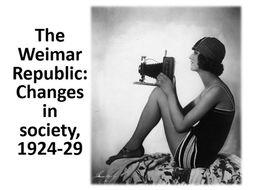 Social Change in the Weimar Republic, 1924-29