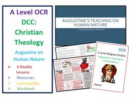 OCR A Level: Augustine's Teaching on Human Nature - Whole Unit plus Learning Mat and Workbook