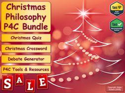 French P4C Christmas Sale Bundle! (Philosophy for Children) [Christmas Quiz & P4C] [KS3 KS4 GCSE] (MFL, French)