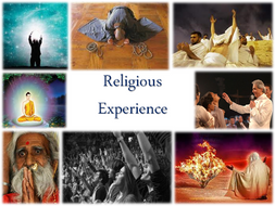 Religious Experience topic workpack and teacher's copy with case studies and video links