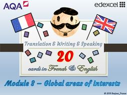 GCSE French - Q&A / Translation Card Set (Module 8: Global Areas of Interests)