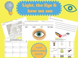 science light and the eye how we see ks1 worksheets by goldstarteach teaching resources. Black Bedroom Furniture Sets. Home Design Ideas