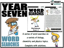 Year 7 Science Word Searches