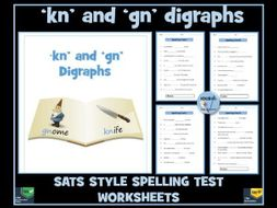 gn and kn digraphs: SATS Style Spelling Tests