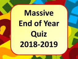 Summer Quiz End of Year