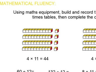 Spring Block: Y4  Block1 Multiplication and Division Smart and PPT file following White Rose (WRM)