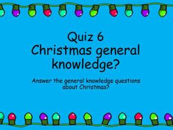 Awesome Christmas Quiz 2019 - Christmas General Knowledge (6) | Teaching Resources