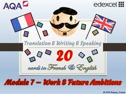GCSE French - Q&A / Translation Card Set (Module 7: Work & Future Ambitions)