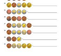 Bundle Coins Worksheets UK Euro Shopping