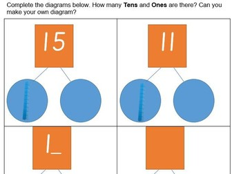 Identifying Tens and Ones in Teen Numbers