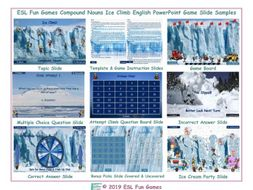 Compound Nouns Ice Climb Interactive English Powerpoint Game
