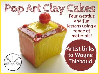 Pop Art Clay Cakes
