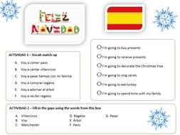 spanish ks3 feliz navidad christmas worksheet free. Black Bedroom Furniture Sets. Home Design Ideas