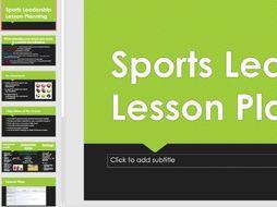 Cambridge national Sport Studies-Sports Leadership unit. Lesson planning lesson.