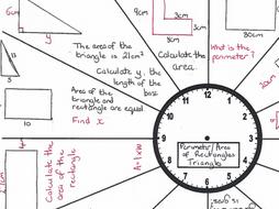 GCSE Maths /Functional Skills-Revision Clock-Area