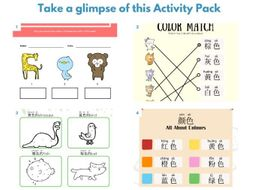 Colours Activity Pack for Mandarin Beginners - 颜色