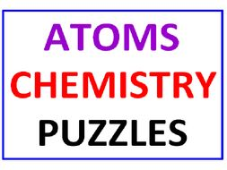 Atoms Word Search Puzzle PLUS Chemistry Word Search Puzzle
