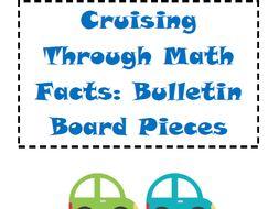 Bulletin Board Set: Cruising Through Math Facts