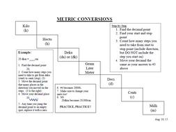 Metric Conversion - Stairstep Method