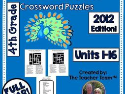 enVision 5th Grade Common Core 2012 Crossword Puzzles Topics 1-16