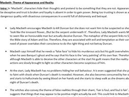 Macbeth - Theme of Appearance and Reality