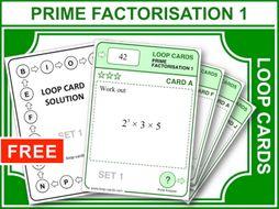 Prime Factorisation 1 (Loop Cards)