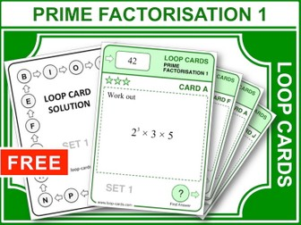 Prime Factorisation 1 (Loop Cards)