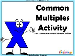 Common Multiples Activity - Year 5