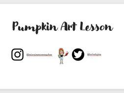 Pumpkin Art Lesson
