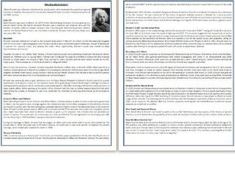 Who Was Albert Einstein? - Reading Comprehension - Informational Text