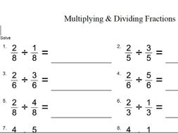 tes multiplying and dividing fractions  gcse maths worksheet by  tes multiplying and dividing fractions  gcse maths worksheet