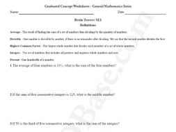 Brain Teasers Worksheet SE1 - Math problems & puzzles (Somewhat Easy)
