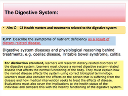 BTEC Applied Science Unit 8 Assignment C M2, D2 content digestive system  disorders: