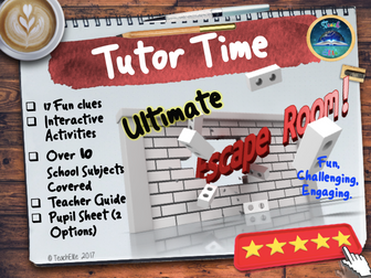 Tutor Time Escape Room