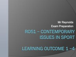 Sports Studies - Unit RO51 - Contemporary Issues in Sport Teacher PowerPoint
