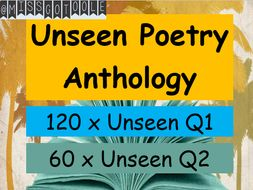 Unseen Poetry Practice Question 1 and 2 Anthology  - AQA GCSE English