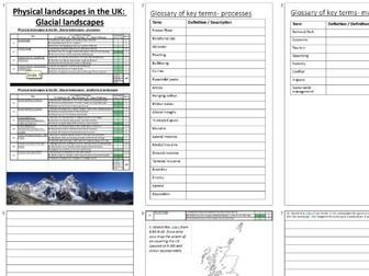 GCSE Glaciers (UK Landscapes) booklet