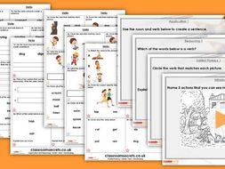 Grammar Year 1 Verbs - Word Classes Autumn Block 3 Step 2 Lesson Pack