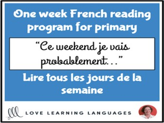 Le paragraphe de la semaine #2 - French primary reading program