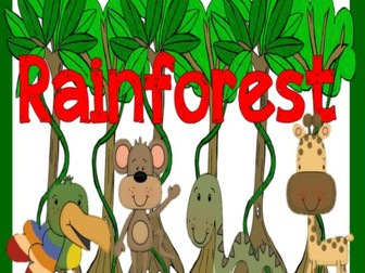 RAINFOREST RESOURCES EARLY YEARS KEY STAGE 1-2 JUNGLE ANIMAL DISPLAY LITERACY  SCIENCE