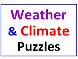 Weather and Climate Word Search Puzzle PLUS Definitions Match