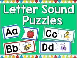 Letter Sounds Puzzles