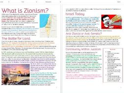 Judaism: Zionism: Differentiated Information and Task Sheets