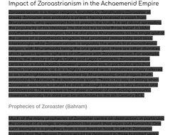 GCSE Ancient History Zoroastrianism Essay