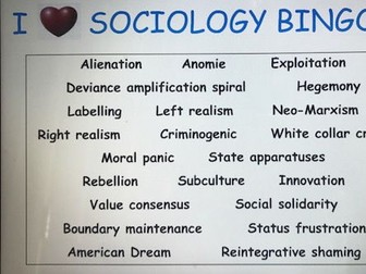 Year 13 Crime Revision Lesson - Functionalism, Subcultural Theory, Labelling and Realism