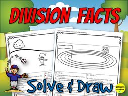 Division Facts Solve & Draw Activity